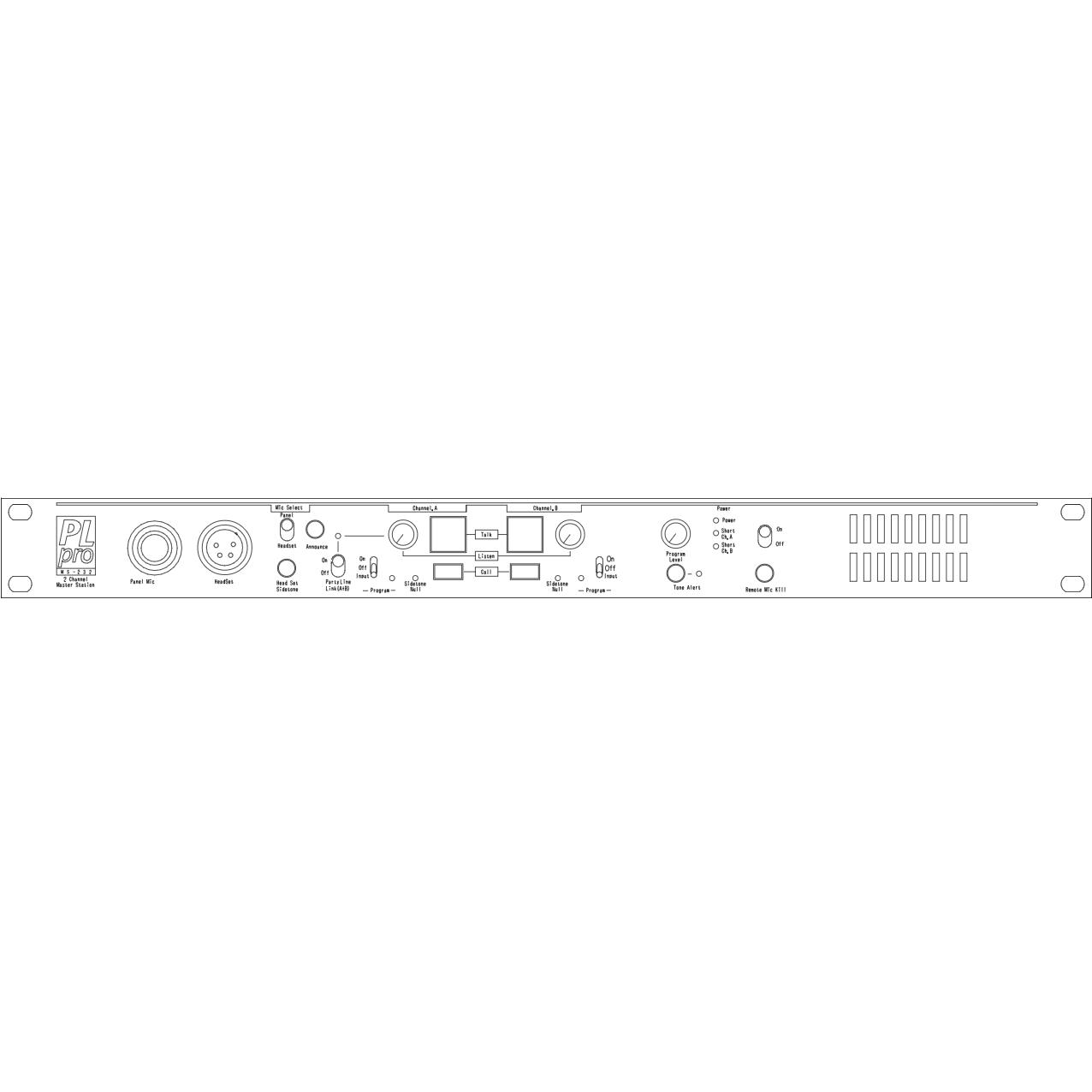 パーティラインインカム 6chセット [ PS-232/RS-601/DT-108 ]